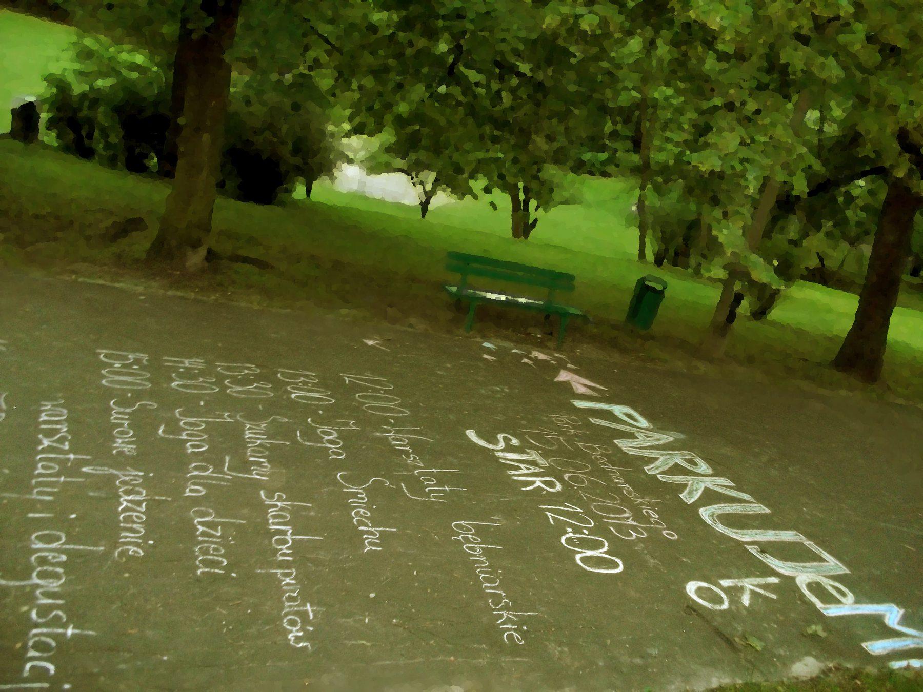 ParkuJeMyEko - zaczynamy kredowy plakat